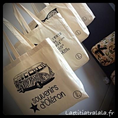 sac coton Souvenirs d'Oléron
